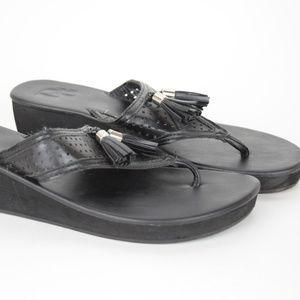 0bc8267b5 Dana Buchman Black Tasseled Sandals with 2